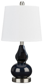 Makana Navy Glass Table Lamp (1/CN)