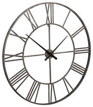 Paquita Antique Silver Wall Clock