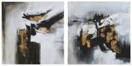 Jerrin Black/White/Gold Finish Wall Art Set (2/CN)