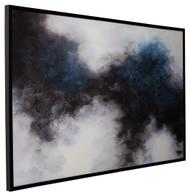Bellecott Black/White/Blue Wall Art