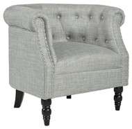 Deaza Light Gray Accent Chair