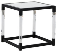 Nallynx Metallic Gray Square End Table