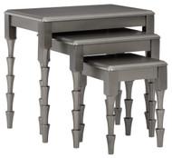 Larkendale Metallic Gray Accent Table Set (3/CN)