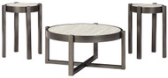 Lannoli Beige/Pewter Occasional Table Set (3/CN)