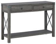 Freedan Grayish Brown Console Sofa Table