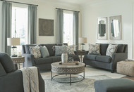 Bayonne Charcoal 7 Pc. Sofa, Loveseat, Chair, Ottoman, Rastella Cocktail Table, 2 End Tables