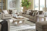 Olin Chocolate 4 Pc. Sofa, Loveseat, Chair and a Half, Ottoman