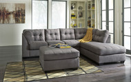 Maier Charcoal 3 Pc. Left Arm Facing Sofa, Right Arm Facing Corner Chaise Sectional, Accent Ottoman