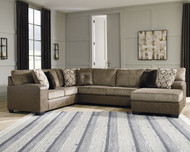 Abalone Chocolate Sectional with Chaise