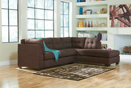 Maier Walnut Left Arm Facing Sofa, Right Arm Facing Corner Chaise Sectional