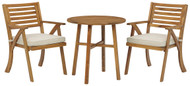 Vallerie Brown Chairs w/CUSH/Table Set (3/CN)