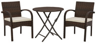 Anchor Lane Brown Chairs w/CUSH/Table Set (3/CN)