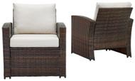 East Brook Dark Brown Lounge Chair w/Cushion (2/CN)