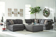 Jayceon Steel Left Arm Facing Corner Chaise, Armless Loveseat, Right Arm Facing Sofa Sectional & Accent Ottoman