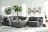 Jayceon Steel Left Arm Facing Sofa, Armless Loveseat, Right Arm Facing Corner Chaise Sectional & Ottoman