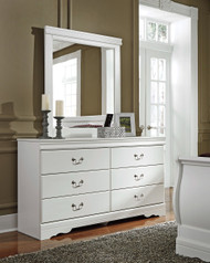 Anarasia White Dresser & Mirror