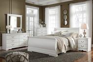 Anarasia White 6 Pc. Dresser, Mirror, Queen Sleigh Bed & Nightstand