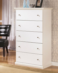 Bostwick Shoals White Five Drawer Chest