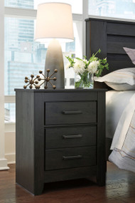 Brinxton Black Two Drawer Night Stand
