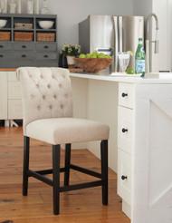 Tripton Linen Upholstered Barstool