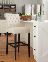 Tripton Linen Tall Upholstered Barstool