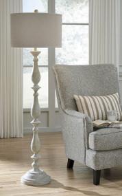 Bernadate Whitewash Poly Floor Lamp
