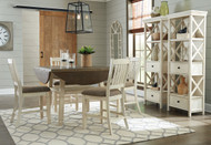 Bolanburg Two-tone 7 Pc. Round Drop Leaf Counter Height Dining Set