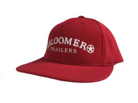 Red Youth FlexFit Performance Cap with White Bloomer Trailers Logo