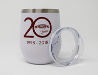 Wine Tumbler 12 oz. 20th Anniversary