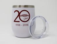 Wine Tumbler 12 oz. 20th Anniversary
