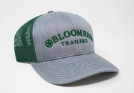 Heather Gray  Cap with Dark Green Bloomer Trailers Logo