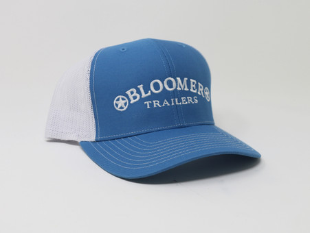 Columbia Blue Cap with White Mesh and White Logo