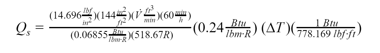 Pressure and Temperature - standard conditions equation