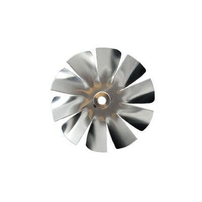 "Packard A61948, Small Aluminum Fan Blade 2"" Diameter 3/16"" Bore 10 Blade Intake Hub Location"