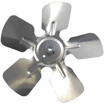 "Packard A85231, Small Aluminum Fan Blade With Hub 8"" Diameter 5/16"" Bore 30  Pitch CCW Rotation Discharge Hub Location"