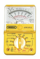 General Tools AM35UL Analog Economy Multimeter, Fused, UL Listed