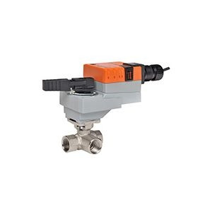 "Belimo B318+LRQX24-1, 3-way CCV, SS Trim, 3/4"", CV 74 CCV w/ Stainless Steel Ball and Stem"
