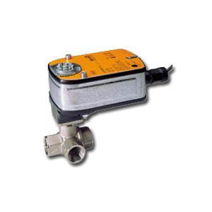 "Belimo B320L+LF120-S US, 3/4"" 3W BV, L-valve, CV=128 with Non-Spring Return, 35 in-lb ,On/Off, 120V w/ switch"