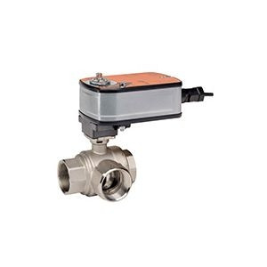 "Belimo B322+LF24-MFT US, 3-way control ball valve Internal thread NPT 1"", DN 25, kvs 6,3"