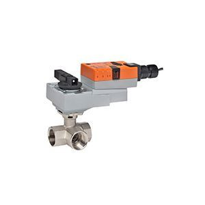 "Belimo B340+ARX24-SR, 3-way CCV, SS Trim, 1-1/2"", CV 37 CCV w/ Stainless Steel Ball and Stem"