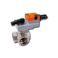 "Belimo B340L+ARX24-MFT, 1 1/2"" 3W BV, L-valve, CV=57 with Non-Spring Return,180 in-lb ,MFT, 24V"