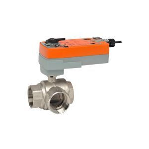 "Belimo B348+AFRX24-MFT-S, 3-way control ball valve Internal thread NPT 2"", DN 50, kvs 25"