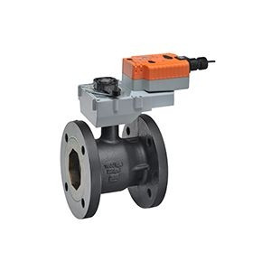 """Belimo B6500S-290+GKRX24-3, 2-way CCV,Flanged SS trim5"""",CV290 Cast Iron body, stainless steel ball 250 F/120 C media temp, ANSI 125 Stainless steel disc"""