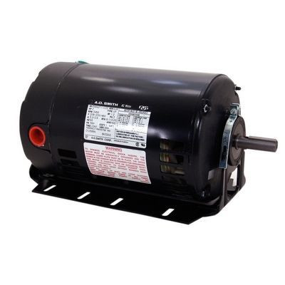 Century Motors BK3102 (AO Smith), Three Phase ODP Resilient Base Motor 230/460 Volts 3450 RPM 1 HP