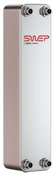 "SWEP B25T 15017-050-1, Brazed Plate Heat Exchanger, B25THx50/1P-SC-M 16+28U+2x1""NPT"