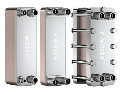 "SWEP B16DW 15043-040, Brazed Plate Heat Exchanger, B16DWHx40/1P-SC-S 4x1""NPT"