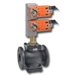 "Belimo G665C-250+2*AFX24-MFT-S-X1, 2-way, FGV, Bronze Trim, 2-1/2"" CV 65 with Fail-Safe, MFT ,24V"