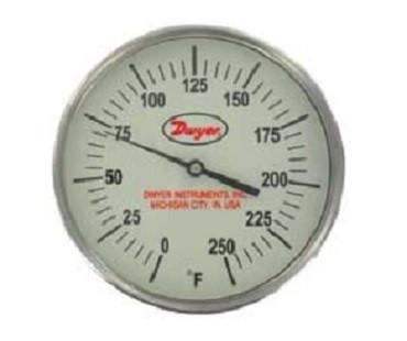 "Dwyer Instruments GBTA56051 5"" THERM 0-250F 6"""