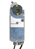 Siemens GCA1261U, OpenAir GCA Series Electric Damper Actuator, rotary, spring return, 160 lb-in (18 Nm), 24 Vac/dc, 2-position control, 90 sec run time, dual auxiliary switches