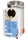 Siemens GDE1611P, OpenAir GDE Series Electric Damper Actuator, rotary, non-spring return, 44 lb-in (5 Nm), 24 Vac, 0 to 10Vdc control, 90 sec run time, plenum rated